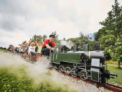 Dampflokomotive im Traumwerk-Park