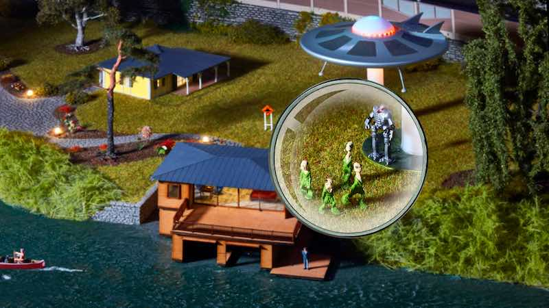 Schon entdeckt Modelleisenbahn- UFO