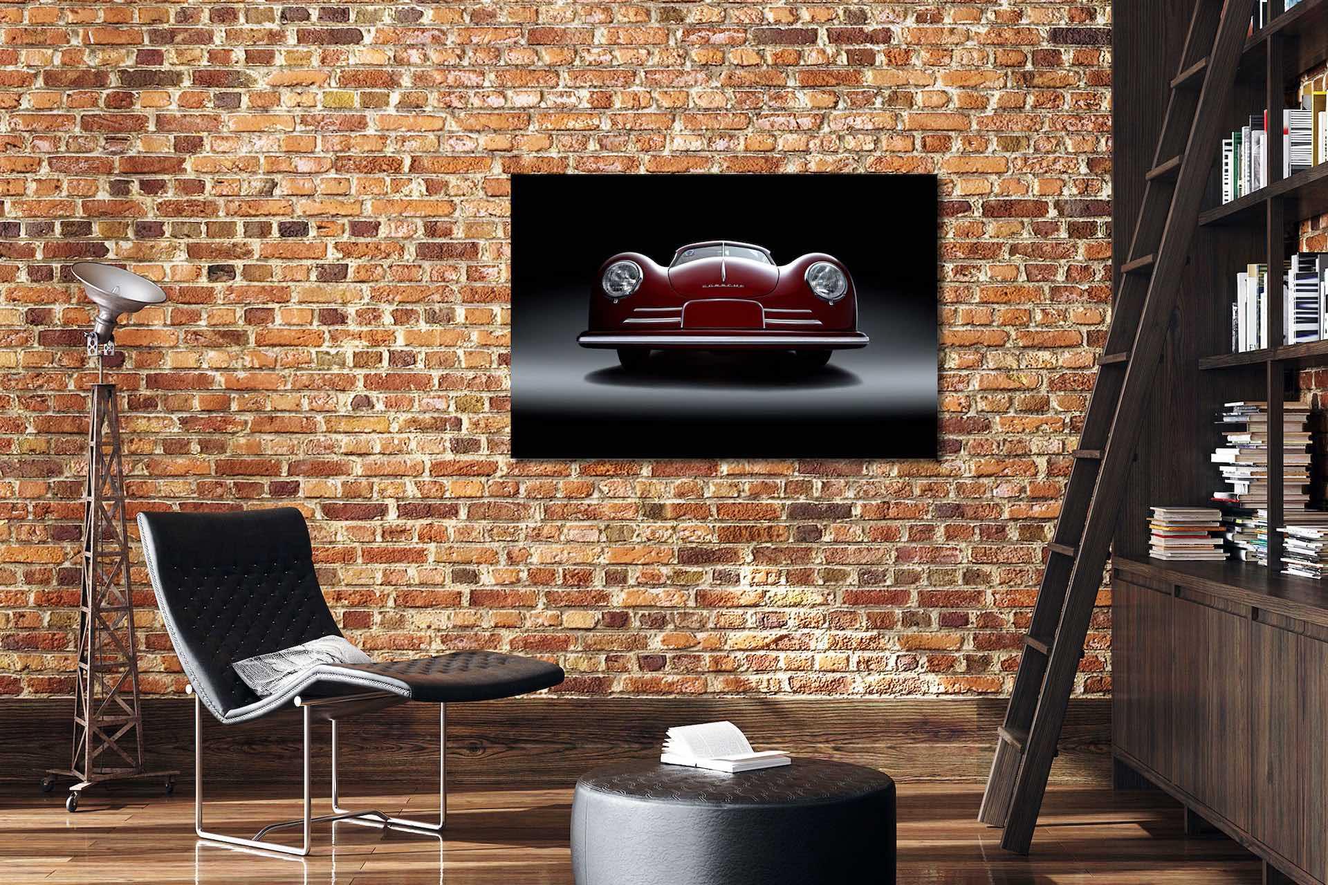 Porsche 356 Coupé als Wandbild